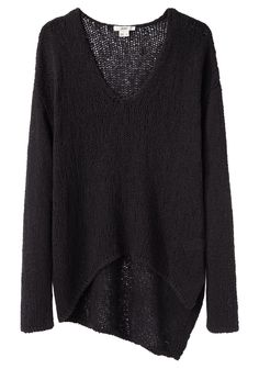 HELMUT / Looped Cotton Asymmetric Pullover