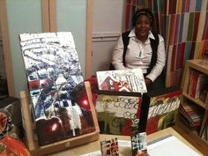 Raquel Stallworth, the guest artist at my October 2011 Open Studio, and her art.