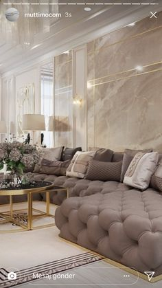 Home Design Living Room, Elegant Living Room, Interior Design Living Room, Living Room Decor, Luxury Homes Interior, Modern Interior, Luxurious Bedrooms, Luxury Sofa, Luxury Living