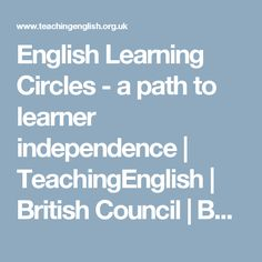 English Learning Circles - a path to learner independence | TeachingEnglish | British Council | BBC