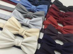 Vista-se com estilo! Gravatas borboleta em jacquard de poliéster. Super Fashion!!!