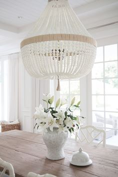 Dining room lighting is Ro Sham Beaux Orbit- White Milk beads.