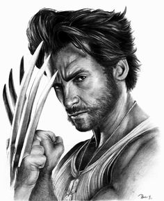 Drawing Marvel Wolverine / Hugh Jackman by - Marvel Wolverine, Logan Wolverine, Marvel Dc Comics, Marvel Heroes, Wolverine Images, Logan Xmen, Marvel Drawings, Cartoon Drawings, Marvel Characters