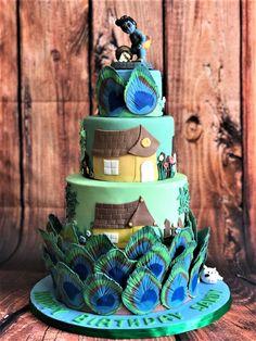 Krishna theme cake Little Krishna, Baby Krishna, Lord Krishna, Creative Birthday Cakes, Beautiful Birthday Cakes, Beautiful Cakes, Birthday Cale, Baby Boy 1st Birthday Party, 1st Birthday Decorations
