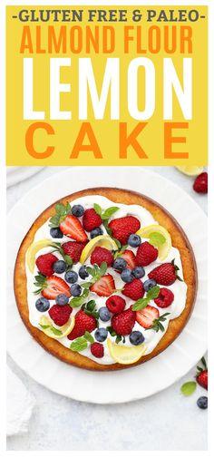 Gluten Free & Paleo Almond Flour Lemon Cake - the perfect spring, summer, or Easter dessert! (dairy free)