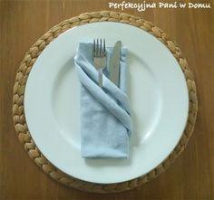 Napkin fold - double pocket Składanie serwetek - podwójna kieszonka