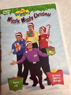 The Wiggles Wiggly Wiggly Christmas Music Kids DVD ages 1-8 19 Childrens Songs