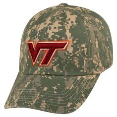 Virginia Tech VT Hokies Flagship Hat Adjustable Digi Camo Cap