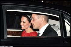Royals & Fashion - Prince William and Duchess Catherine attended the reception in honor of the diplomatic corps which was held at Buckingham Palace, London. They were with Queen Elizabeth, Prince Philip, Prince Charles and Duchess Camilla.