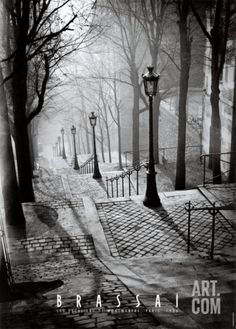 Montmartre, Paris, France, 1936 by Brassai.my favorite place we visited in paris Montmartre Paris, Beautiful World, Beautiful Places, Beautiful Pictures, Beautiful Streets, Simply Beautiful, Amazing Places, Black White Photos, Black And White Photography