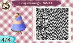 Este es un QR Code para Animal Crossing, creado por mí; como podéis observar, es un conjunto veraniego de color lila. [4-4]  Lo podéis encontrar en mi canal de YouTube: https://www.youtube.com/channel/UCh6uwa2CjSgR4WQ-ghRQY6Q (Roxy).  ¡Espero que os guste! ;)
