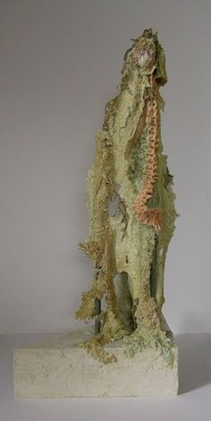 Steekplus: *MEER OVER : Mariet Rankenberg textiel bewerkt met latex en acrylverf