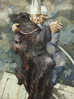 Jerzy Duda Gracz | Le petite contredance, 1990 | oil, hardboard | 122.5 x 91.5 cm