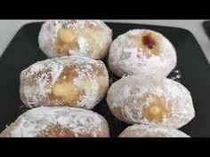 Αφράτα ντόνατσ με κρέμα βαυαρίας και όχι μόνο. - YouTube Doughnut, Muffin, Breakfast, Youtube, Desserts, Food, Morning Coffee, Tailgate Desserts, Deserts