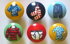 Items similar to Childrens Kids Baby Room Hand Painted Drawer Knobs Nursery Decor Cabinet Pulls - You choose the design/s on Etsy Toy Rooms, Kids Rooms, Wardrobe Drawers, Drawer Pulls And Knobs, Painted Drawers, Kids Pages, Inspiration For Kids, One Design, Nursery Decor