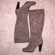 Isola Brown Suede Knee High Boots size 7 Worn once. Perfect condition. Pics with/without flash to show true color. Super comfortable and well-made! Size 7. Great deal. Isola Shoes Heeled Boots