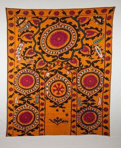 ANTIQUE Suzani  Uzbekistan 1900s is 0164 by SOrugsandtextiles