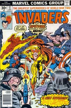 marvels the invaders | The Invaders #12 [1977] – Cover | Jack Kirby Comics Weblog