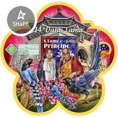 ST16419b 14th Dalai Lama (Urocissa caerulea, Tsai Ing-wen and 14th Dalai Lama; 2016 PHILATAIPEI World Stamp Championship Exhibition) Stamps, Seals, Postage Stamps