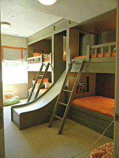 This is such a cool idea for bunks!
