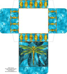 Dragonfly Box - this site has lots of different patterns and styles of boxes
