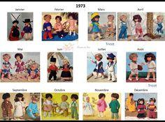 Modes et Travaux - Patrons poupée 1973