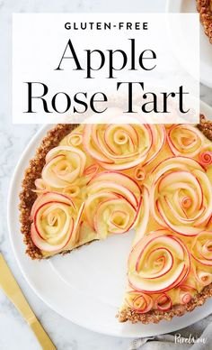 Life Hacks : Illustration Description Get the recipe for this beautiful and delicious rose apple tart to serve at your next fall gathering. Gf Recipes, Tart Recipes, Apple Recipes, Sweet Recipes, Dessert Recipes, Cooking Recipes, Dessert Food, Cooking Food, Dessert