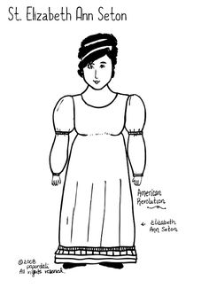 Perseverence - Saint Elizabeth Ann Seton paper dolls & video of her life
