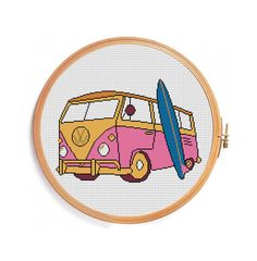 Cross stitch pattern VW CAMPER BUS by PatternsCrossStitch on Etsy, $4.00