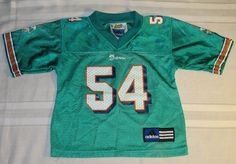 NFL Miami Dolphins Z. Thomas #54 Jersey by Adidas child size #adidas #MiamiDolphins