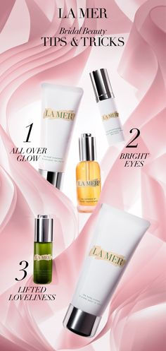 Bridal Tips & Tricks: Tip #1: Add a few drops of The Renewal Oil to The Body Creme for instant glow all over to really make it pop when the flashbulbs go off. Adding it to The Hand Treatment will ensure your skin looks (and feels) its best in those close ups of your newly ringed fingers. Tip #2: Smoothing The Illuminating Eye Gel onto eye area before applying The Concealer adds brightness for a fresh, look you'll love. Tip #3: Smooth and lift your brow area with The Lifting Eye Serum.
