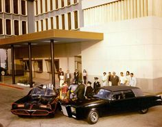 Batman and the Green Hornet arguing over who was at fault.   The Batmobile was created by George Barris while the Green Hornet's Black Beauty was created by the late Dean Jeffries. Barris and Jeffries developed a rivalry over the years, with Jeffries accusing Barris of taking credit for the creation of the Monkeemobile and the Black Beauty, two cars that Barris bought after the shows were cancelled.