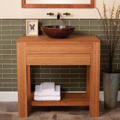 Bamboo Bathroom Vanity americana vanity in driftwood bathroom-vanities-and-sink-consoles