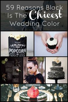 Black is not my favorite for a wedding color, but there are some classy ideas here. | 59 Reasons Black Is The Chicest Wedding Color
