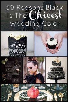 59 razones por las que el negro es el color de boda más elegante