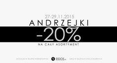 ANDRZEJKI 2015 promocja - 20 % w sklepie eidos.pl