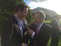 Michael Fassbender and @SeanKellyMEP in Muckross House, Killarney - The Order of Innisfallen received  Adorable smile