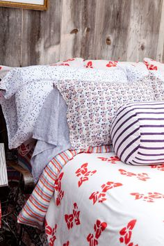 Kerry Cassill - Luxury Indian printed Bedding and Apparel — Blue Rainbow Sheets
