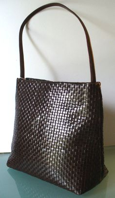 Leonardo Made in Italy Woven Leather Shoulder by EurotrashItaly, $64.99