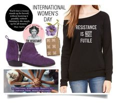 """International Women's Day"" by queenofsienna ❤ liked on Polyvore featuring Golden Goose, Nine West and Global Goods Partners"