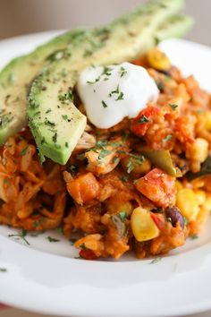 Healthy Crockpot Enchilada Casserole | Lauren's Latest