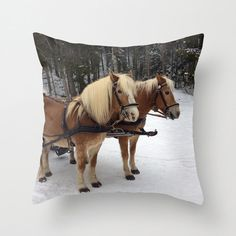 Horses Altaussee II, Pillow Cover by BacktoBasicsPillows on Etsy