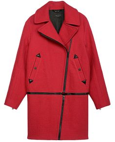 rag & bone Official Store, Rally Coat , red fl, Womens : Ready to Wear : Coats, W236202NF
