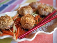 Sesame Prawn Balls from Gok Cooks Chinese Duck Recipes, Asian Recipes, Gourmet Recipes, Cooking Recipes, Healthy Recipes, Asian Foods, Chinese Recipes, Chinese Food, Gok Wan Recipes