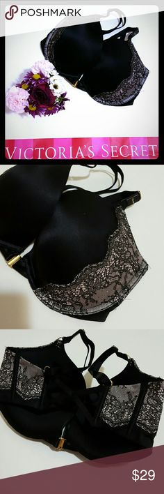 New! Victoria's Secret pushup bra 32ddd New with tags! Gorgeous  padded  style. 32ddd. If your size is 34dd then this is your sister size (I recommend trying on this size in store if this isn't your regular size)!  Bras can be bundled 3 or more for $20 each! Comment on the 3 or more bras that you would like and I will bundle them in one listing for you! Sizes included are 32d, 32dd, and 32ddd.  Bundle and save! Victoria's Secret Intimates & Sleepwear Bras