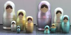 Two Brunettes - Two Brunettes - Nesting Dolls from Handle and Spout