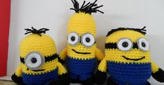 Minion Inspired Crochet Softie    From left to right: body type 1, 2, 3      This pattern was super fun to write. There are a couple diffe...