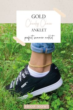 Chunky Gold Chain Anklet for Women, Lockdown Ankle Bracelet, Thick Gold Chain Anklet, Gold Ankle Bracelet, Simple Anklet, Bridesmaid Anklet Christmas Gifts For Him, Gifts For Mum, Gifts For Teens, Teen Gifts, Thick Gold Chain, Gold Hands, Heart Bracelet, Ankle Bracelets, Handmade Clothes