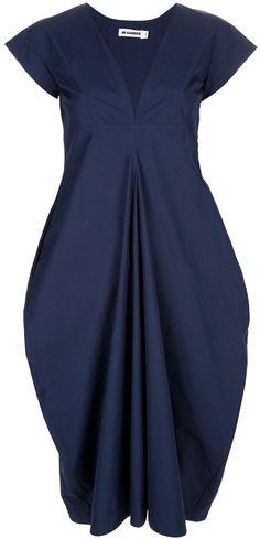 Jil Sander ~ Short-Sleeved Dress