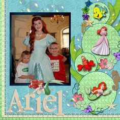 """Ariel - Page 7 - MouseScrappers.com -> like the smaller stickers inside bubbles - avoids the look of """"sticker sneeze""""."""